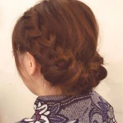 ヘアアレンジ コンサバ 着物 愛され ヘアスタイルや髪型の写真・画像