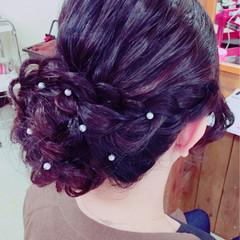 結婚式 ヘアピン 大人女子 ヘアアレンジ ヘアスタイルや髪型の写真・画像