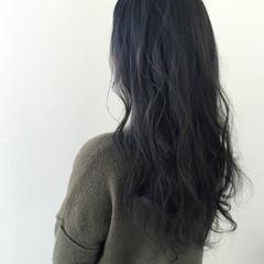 ゆるふわ アッシュ ロング ストリート ヘアスタイルや髪型の写真・画像