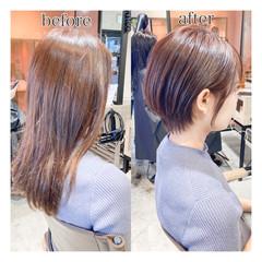 似合わせカット レイヤーヘアー 簡単ヘアアレンジ 外ハネボブ ヘアスタイルや髪型の写真・画像
