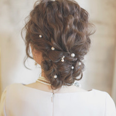 アッシュ ブラウン ハイライト 簡単ヘアアレンジ ヘアスタイルや髪型の写真・画像
