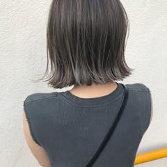 ロブ ボブ 切りっぱなし 外ハネ ヘアスタイルや髪型の写真・画像