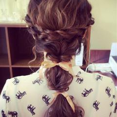 波ウェーブ 結婚式 ヘアアレンジ ロング ヘアスタイルや髪型の写真・画像