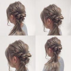 ハイライト ロング アッシュ イルミナカラー ヘアスタイルや髪型の写真・画像