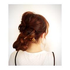 ヘアアレンジ 簡単ヘアアレンジ セミロング ゆるふわ ヘアスタイルや髪型の写真・画像