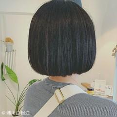ストレート ボブ 縮毛矯正 艶髪 ヘアスタイルや髪型の写真・画像