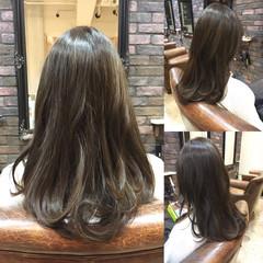 アッシュ ナチュラル フェミニン グラデーションカラー ヘアスタイルや髪型の写真・画像