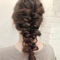 編み込み デート 簡単ヘアアレンジ ヘアアレンジ ヘアスタイルや髪型の写真・画像