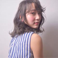 ミディアム かわいい ブルージュ 色気 ヘアスタイルや髪型の写真・画像