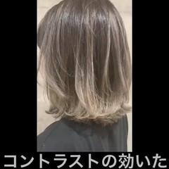 透明感カラー グレージュ ナチュラル ベージュ ヘアスタイルや髪型の写真・画像
