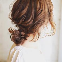 ゆるふわ 簡単ヘアアレンジ 大人女子 ショート ヘアスタイルや髪型の写真・画像