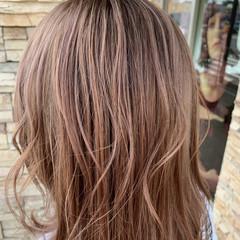 ブリーチ必須 ベージュ ブリーチカラー ピンクバイオレット ヘアスタイルや髪型の写真・画像