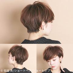 ショート ボブ うざバング 大人女子 ヘアスタイルや髪型の写真・画像