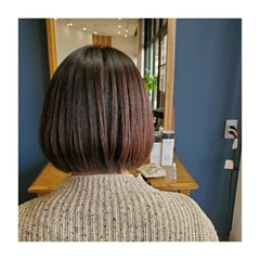 ローライト 3Dカラー ショコラブラウン 小顔 ヘアスタイルや髪型の写真・画像