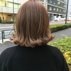 3Dカラー ストリート ボブ 外ハネ ヘアスタイルや髪型の写真・画像