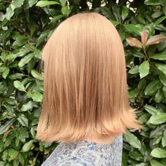 ガーリー ミディアム ハイトーン ハイトーンカラー ヘアスタイルや髪型の写真・画像