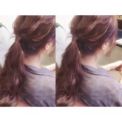 ナチュラル リラックス 簡単ヘアアレンジ デート ヘアスタイルや髪型の写真・画像