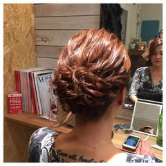 ヘアアレンジ ショート アップスタイル 波ウェーブ ヘアスタイルや髪型の写真・画像