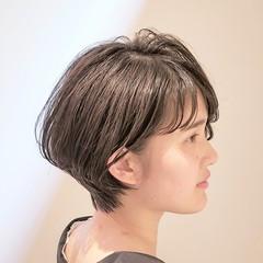 ナチュラル ショート 小顔ヘア ショートボブ ヘアスタイルや髪型の写真・画像