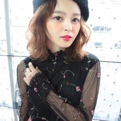 冬 色気 ショート ゆるふわ ヘアスタイルや髪型の写真・画像