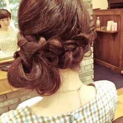 愛され 大人かわいい ナチュラル 編み込み ヘアスタイルや髪型の写真・画像