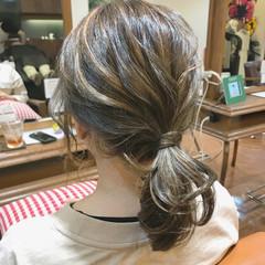ナチュラル ヘアアレンジ デート オフィス ヘアスタイルや髪型の写真・画像
