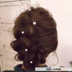 前髪あり モテ髪 愛され 編み込み ヘアスタイルや髪型の写真・画像