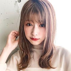 アンニュイほつれヘア セミロング モテ髪 デジタルパーマ ヘアスタイルや髪型の写真・画像