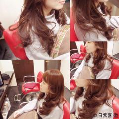 ガーリー 外国人風 フェミニン ロング ヘアスタイルや髪型の写真・画像