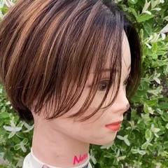 ショート ハイライト ベリーショート ショートヘア ヘアスタイルや髪型の写真・画像