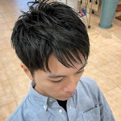メンズ ツーブロック ショートヘア ナチュラル ヘアスタイルや髪型の写真・画像