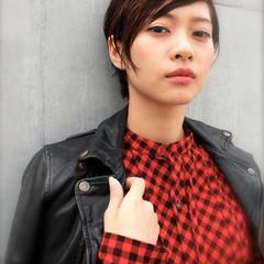 暗髪 外国人風 黒髪 ストリート ヘアスタイルや髪型の写真・画像