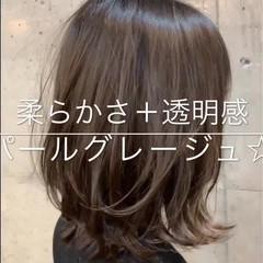 デート 透明感 秋 トリートメント ヘアスタイルや髪型の写真・画像