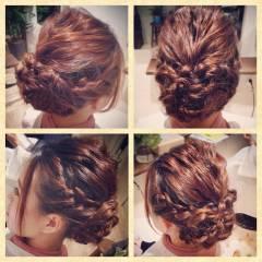 コンサバ 夏 モテ髪 編み込み ヘアスタイルや髪型の写真・画像