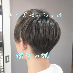 メンズカット メンズ ナチュラル ショート ヘアスタイルや髪型の写真・画像