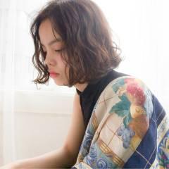 ウェーブ ミディアム 外国人風 大人かわいい ヘアスタイルや髪型の写真・画像