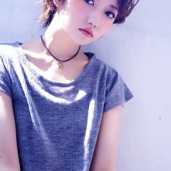 モード 外国人風 ラフ ショート ヘアスタイルや髪型の写真・画像