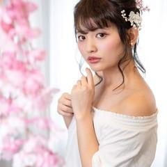 ミディアム ヘアアレンジ デート お団子 ヘアスタイルや髪型の写真・画像