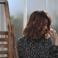ニュアンス ボブ デート フェミニン ヘアスタイルや髪型の写真・画像