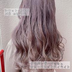 外国人風カラー ナチュラル イルミナカラー セミロング ヘアスタイルや髪型の写真・画像