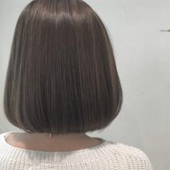ハイライト ナチュラル ミルクティー アッシュ ヘアスタイルや髪型の写真・画像