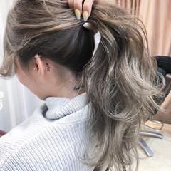 ロング ストリート 外国人風カラー グラデーションカラー ヘアスタイルや髪型の写真・画像