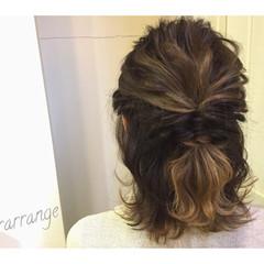 結婚式 ヘアアレンジ 簡単ヘアアレンジ イルミナカラー ヘアスタイルや髪型の写真・画像