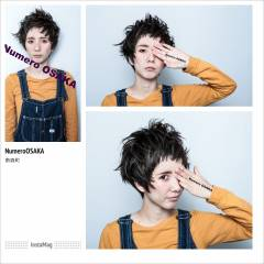 ショート オン眉 ガーリー ストリート ヘアスタイルや髪型の写真・画像