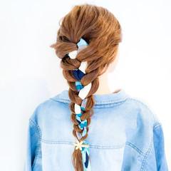 上品 アウトドア ヘアアレンジ ヘアアクセ ヘアスタイルや髪型の写真・画像