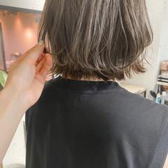 ナチュラル ベージュ ボブ グレージュ ヘアスタイルや髪型の写真・画像