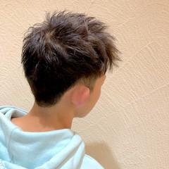 メンズカラー ダブルカラー ナチュラル メンズカット ヘアスタイルや髪型の写真・画像