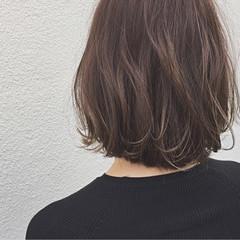ロブ ボブ ワンカール ナチュラル ヘアスタイルや髪型の写真・画像