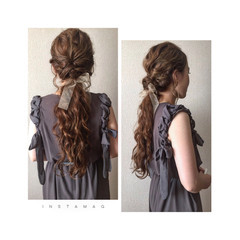 ロング ナチュラル ショート ヘアアレンジ ヘアスタイルや髪型の写真・画像