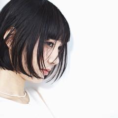 モード 暗髪 ショート 黒髪 ヘアスタイルや髪型の写真・画像